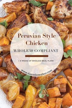 This Peruvian Style Chicken is a new weeknight favorite! A delicious & easy meal boasting bold flavors - gluten free & Whole30 compliant! #daniellewalker #againstallgrain #paleo #whole30 Paleo Chicken Recipes, Turkey Recipes, Paleo Recipes, Paleo Meals, Recipe Chicken, Healthy Chicken, Easy Weeknight Meals, Easy Meals, Whole 30 Meal Plan