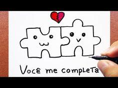 Como Desenhar Cartão Quebra-Cabeça para o Dia Dos Namorados - YouTube