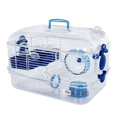 Pet Ting Lilac Hamster Cage - For Hamsters, Dwarf Hamsters, Gerbil Etc (Blue)