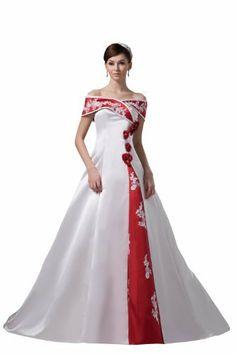 Herafa Line Shoulder A-Line Wedding Dress Chapel Train Hand-Decorated With Flowers White Size:12 herafa,http://www.amazon.com/dp/B00BQ2L5E6/ref=cm_sw_r_pi_dp_03rrrb1B1FNGM86P