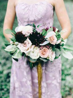 Dahlia & Rose Bouquet || Bridesmaid Bouquet || Timeless Wedding Bouquet