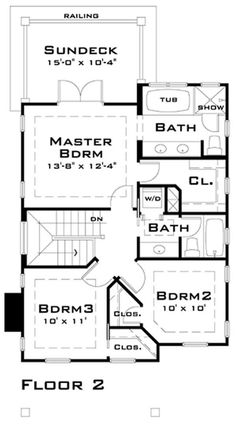 116-1007: 116-1007 house plan second floor