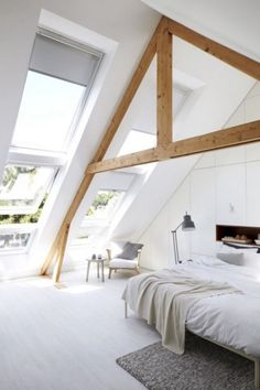 What comes in your mind when somebody said loft room? Can it be the dusty, chilly, old room which is certainly unsuitable for a bedroom? ) If so, then you will need to observe these minimalist and modern loft bedroom… Continue Reading → Attic Apartment, Attic Rooms, Attic Spaces, Attic Bathroom, Loft Room, Bedroom Loft, Bedroom Decor, Bedroom Ideas, Skylight Bedroom