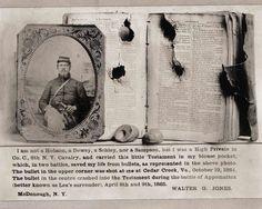 Civil War Bullet Hole Bible Soldier