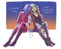 ♪♪ || Avengers Infinity War || Gamora & Nebula || Cr: Hallpen