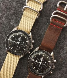 Two more vintage Speedy's, two more Crown & Buckle straps. #crownandbuckle #windupnyc