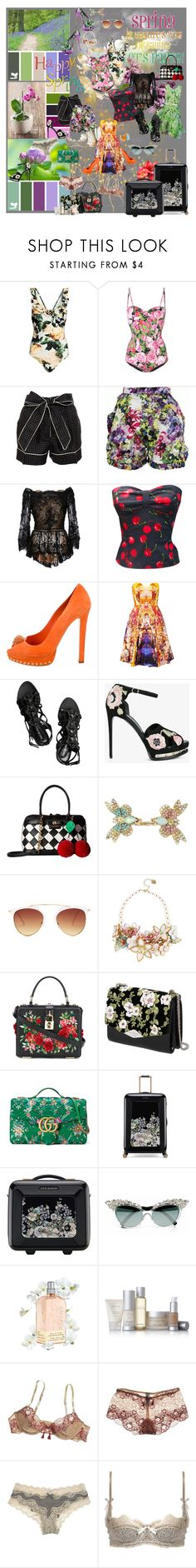"""""""Spring Break Style"""" by asuras ❤ liked on Polyvore featuring Dolce&Gabbana, Erdem, Marchesa, Alexander McQueen, McQ by Alexander McQueen, Emilio Pucci, Betsey Johnson, Rochas, Gucci and Ted Baker"""
