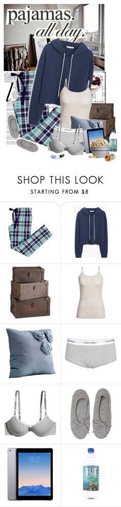 """""""Pajama Party!"""" by xsheaintmex ❤ liked on Polyvore featuring Whiteley, MANGO, Icebreaker, Always Home, Calvin Klein, H&M, Banjo & Matilda, Waring and LovelyLoungewear"""
