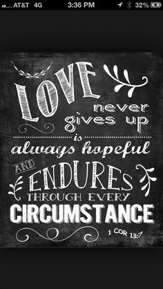 Love chalk - lettering