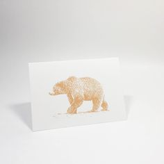 Bear mini cards in g