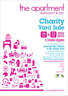 yard sale poster - may be a nice re-do for the eCycle poster