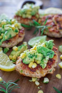 Chicken Burgers with Avocado Corn Salsa. Chicken Burgers with Avocado Corn Salsa Recipes Very easy to make, yet so tender and tasty, these Chicken Burgers with Avocado Salsa are going to be loved. Easy Soup Recipes, Dinner Recipes, Cooking Recipes, Healthy Recipes, Dinner Ideas, Corn Recipes, Burger Recipes, Lunch Recipes, Chicken Recipes