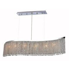 """Moda 32"""" Crystal Chandelier with 6 Lights"""
