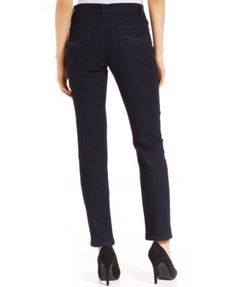 Style & Co Petite Tummy-Control Slim-Leg Jeans, Only At Macy's - Black 16PS