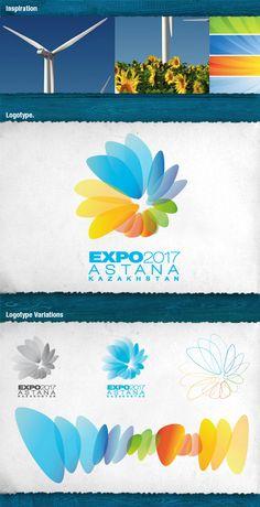 Branding EXPO 2017 Astana by Fernando Fernández, via Behance