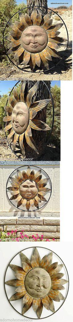 Wall Sculptures 166729: Metal Sun Wall Decor Flower Rustic Garden Art Indoor Outdoor Patio Sculpture -> BUY IT NOW ONLY: $109.99 on eBay!
