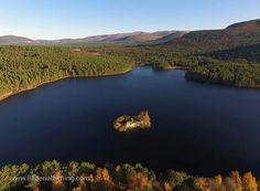 Loch an Eilien beside Aviemore Cairngorms