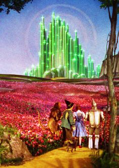 The Wizard of Oz - Emerald City - Field of Sleeping Poppies -Dorthy, Tin Man, Scarecrow, Cowardly Lion & Toto
