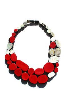 Jasmin Winter - Necklace - silver, enamel