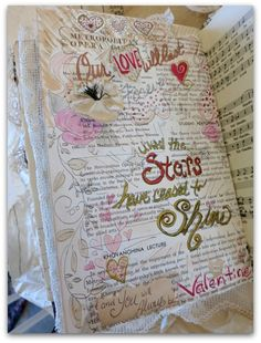 Valentine Journal Workshop includes all the vintagey goodies and instruction, plus lunch and romantic chocolatey treats, $100.   Feb. 2nd at my home in Lawrence, KS