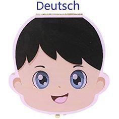 ABF Deutsch Blau, Jungen Firsty Milchzahndose Round Schneller Versand
