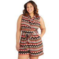 Canyon Recreation Romper in Plus Size from ModCloth
