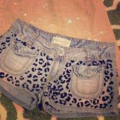 """Selling this """"Hand Painted Leopard Print Denim Shorts"""" in my Poshmark closet! My username is: Diy Summer Clothes, Summer Diy, Summer Outfits, Casual Shorts, Denim Shorts, Print Denim, Username, Aeropostale, Hand Painted"""