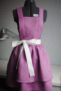 Купить или заказать Фартук льняной Lavender в интернет магазине на Ярмарке Мастеров. С доставкой по России и СНГ. Срок изготовления: 3 дня. Материалы: 100% лён. Размер: 42-44, 46-48
