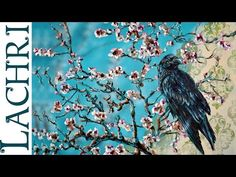 Acrylic Painting Demo - Van Gogh Almond Branch & Raven w/ Lachri - YouTube