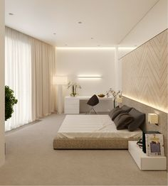 Indirect lighting bedroom