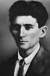 Franz Kafka Portrait  Yeah, I can't get over it, but why should I. I'll always appreciate Kafka's anxiety and self loathing. It takes a guy that truly doesn't fit in to write books about his irrational fears and hallucinations. Seven women per week wrote to this guy just to tell him that they would never date him. I love you Franz.