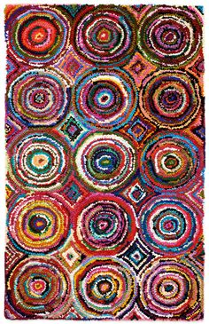 The Anji Mountain Atlas rug is dazzling with day-glow colors and kaleidoscopic patterns. The ultra-plush pile is hand tufted using recycled cotton material repurposed from the garment industry. Purple Area Rugs, Orange Area Rug, Pop Art Patterns, Rug Patterns, Bamboo Rug, Day Glow, Natural Fiber Rugs, Circle Pattern, Rugs Usa