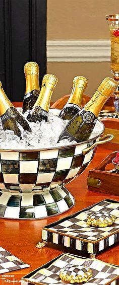 MacKenzie-Childs ♔ Très Haute Design Diva #champagne #cooler