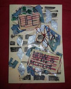 Live the live!! #handmade #postcard #hechoamano #tarjetas #recycled #reciclaje #diy #diycasero #Asturias