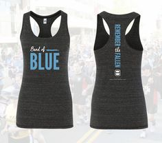 Band of Blue Racer Back Tank Top - ODMP