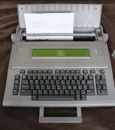 as is parts repair vintage canon starwriter 80 floppy word processor rh pinterest com Royal Manual Typewriter Maual Typewriter