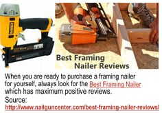 If you are a first timer for using finish nailers, then you can either rely on the manual or on the nail gun reviews to understand its working mechanism. For More Information about Nail Gun Reviews, please check http://www.nailguncenter.com/