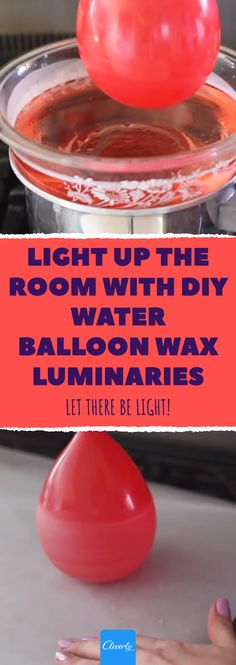 Make A Candle Holder From Wax & A Balloon. Light Up The Room With DIY Water Balloon Wax Luminaries. #balloon #luminary #wax #home #diy #candle #candlelight #tricks #crafts #artsandcraft #doityourself #waxluminaries #lighting #light Diy Candle Holders, Diy Candles, Water Balloons, Ballons, Sand Crafts, Paraffin Wax, Light Up, Tea Lights, Crafts For Kids