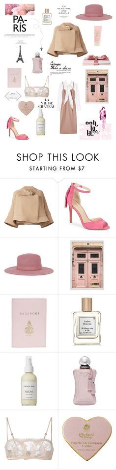 """Bon Voyage: Weekend in Paris"" by egchee ❤ liked on Polyvore featuring Chloé, Botkier, Satya Twena, Pottery Barn, Mark Cross, French Girl, Parfums de Marly, La Perla, MOR Cosmetics and Ballard Designs"