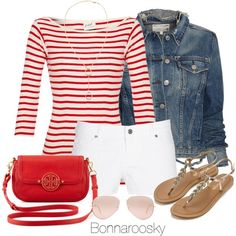 """""""Red and white"""" by bonnaroosky on Polyvore"""