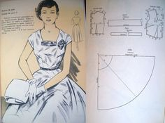 DIY Full-Skirted Vintage 50's Dress - FREE Sewing Draft