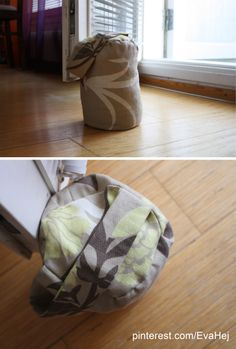 Doorstop filled with dried peas and sewing scraps