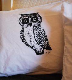 Owl Screenprinted Pillowcases