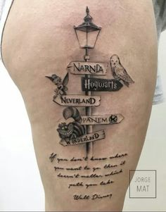 hogwarts, narnia, and tattoo image