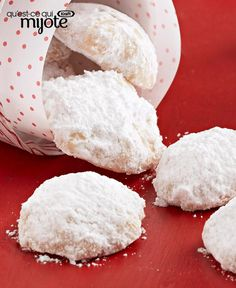Vanilla shortbread rolled in snowy sugar for a perfect holiday treat. Christmas Goodies, Christmas Baking, Christmas Recipes, Dessert Parfait, Poppers Recipe, Edible Gifts, Best Cookie Recipes, What To Cook, Shortbread