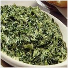 Quick and easy creamed spinach