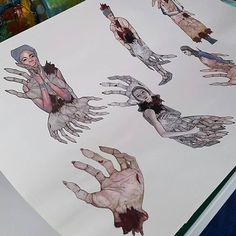 We're in love with student Carmen Wing's gruesome sketches... Is it to early to start getting excited for halloween?   #WeCreate