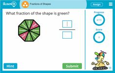 Practice identifying fractions of shapes with this 3rd grade math lesson from iknowit.com! Try it for free today!