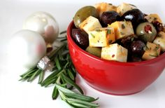 Marinated Cheese and Olive..simple and elegant