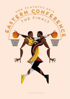 NBA playoffs 2014 on Behance